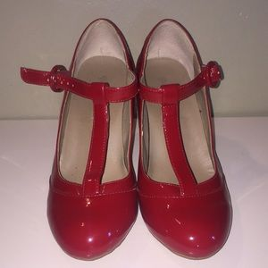 Shoes - Red Pin Up heels